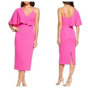 Dress The Population Beth Asymmetrical Dress M